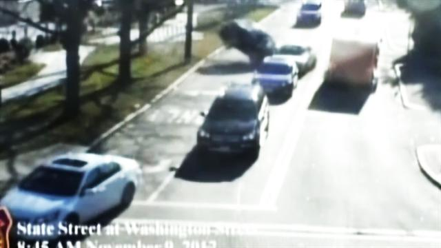 Car crash in Wellesley, Mass., caught on tape
