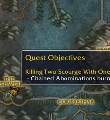Exploring Azeroth with quest icons on the map