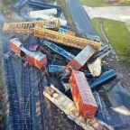 Train derailment causes pileup in Texas, forces evacuations