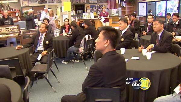 Thai educators visit Fresno's Kastner Intermediate School