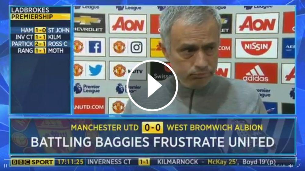 VÍDEO: Mourinho discute con un periodista