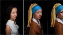 Artista chinesa dá vida a personagens de quadros famosos com maquiagem