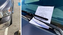 Police leave 'snarky and sassy' messages for bad parkers