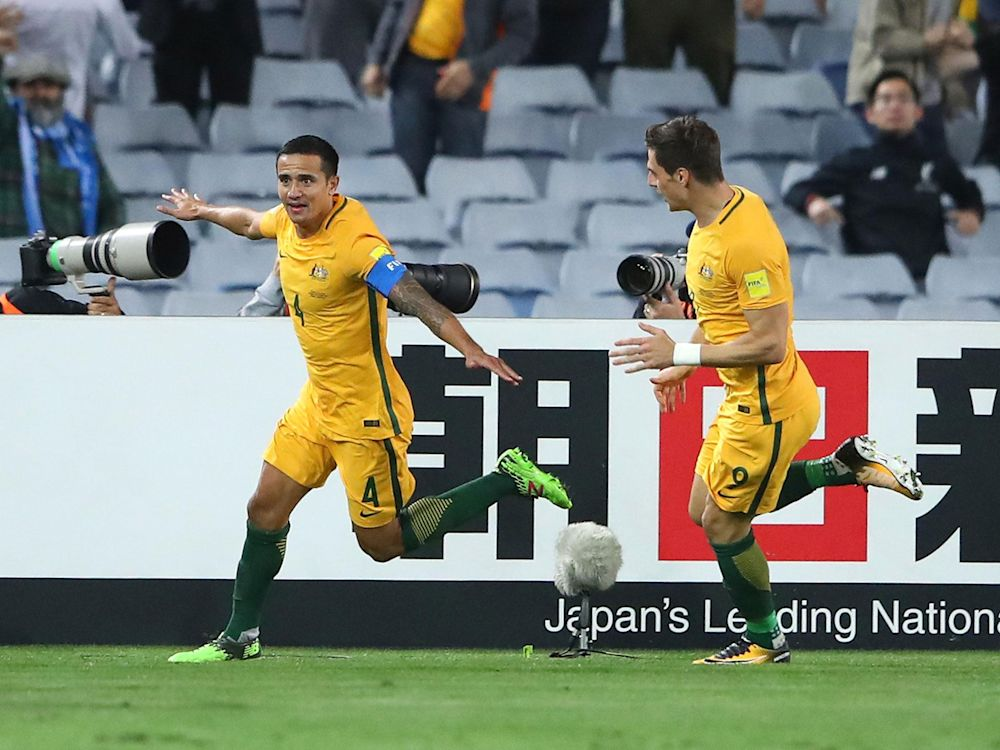 Australia striker Tim Cahill paid to do 'sponsored' goal celebration in crucial World Cup play-off against Syria