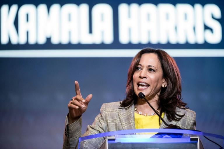 California Senator Kamala Harris, a candidate for the 2020 Democratic presidential nomination, has received a surge in support following last week's presidential candidate debates (AFP Photo/Sean Rayford)