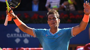 Nadal rallies to beat Mayer at Barcelona Open