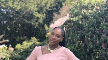 Serena Williams Wears Hip-Length Braided Ponytail With Her Fascinator at the Royal Wedding