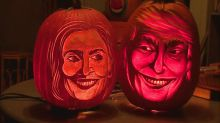 Artist Carves Out Presidential Pumpkins