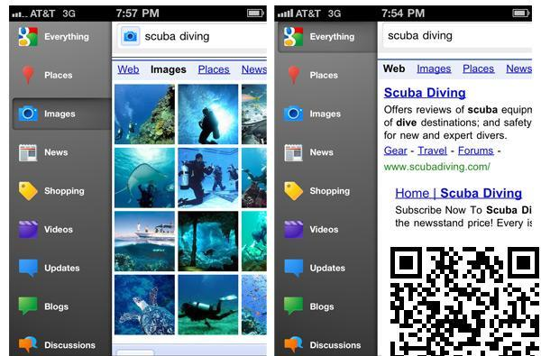 Google Search app for iPhone introduces new side-swipe toolbar and other UI tweaks