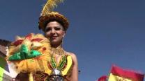 Raw: Bolivian Dancers Attempt to Break Record