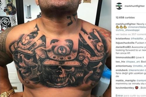 Mark Hunt está de tatuagem nova - Reprodução/Instagram