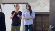 Meghan Markle dresses down in $300 shirt in behind-the-scenes video — and it's already sold out