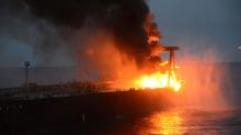 Factbox: Fully loaded supertanker catches fire off Sri Lanka