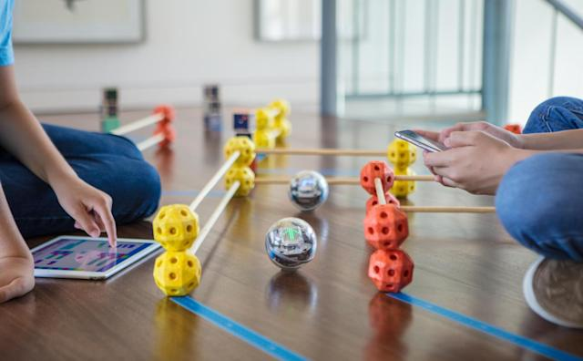 Sphero Bolt is a robotic ball with programmable LED lights