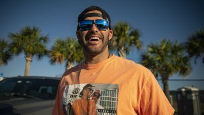 Martinez arrives at Sox camp in tipsy Brady shirt