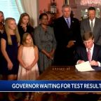 Governor tested for COVID-19