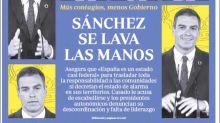 El ABC y una de sus portadas más llamativas: Pedro Sánchez se convierte en un meme