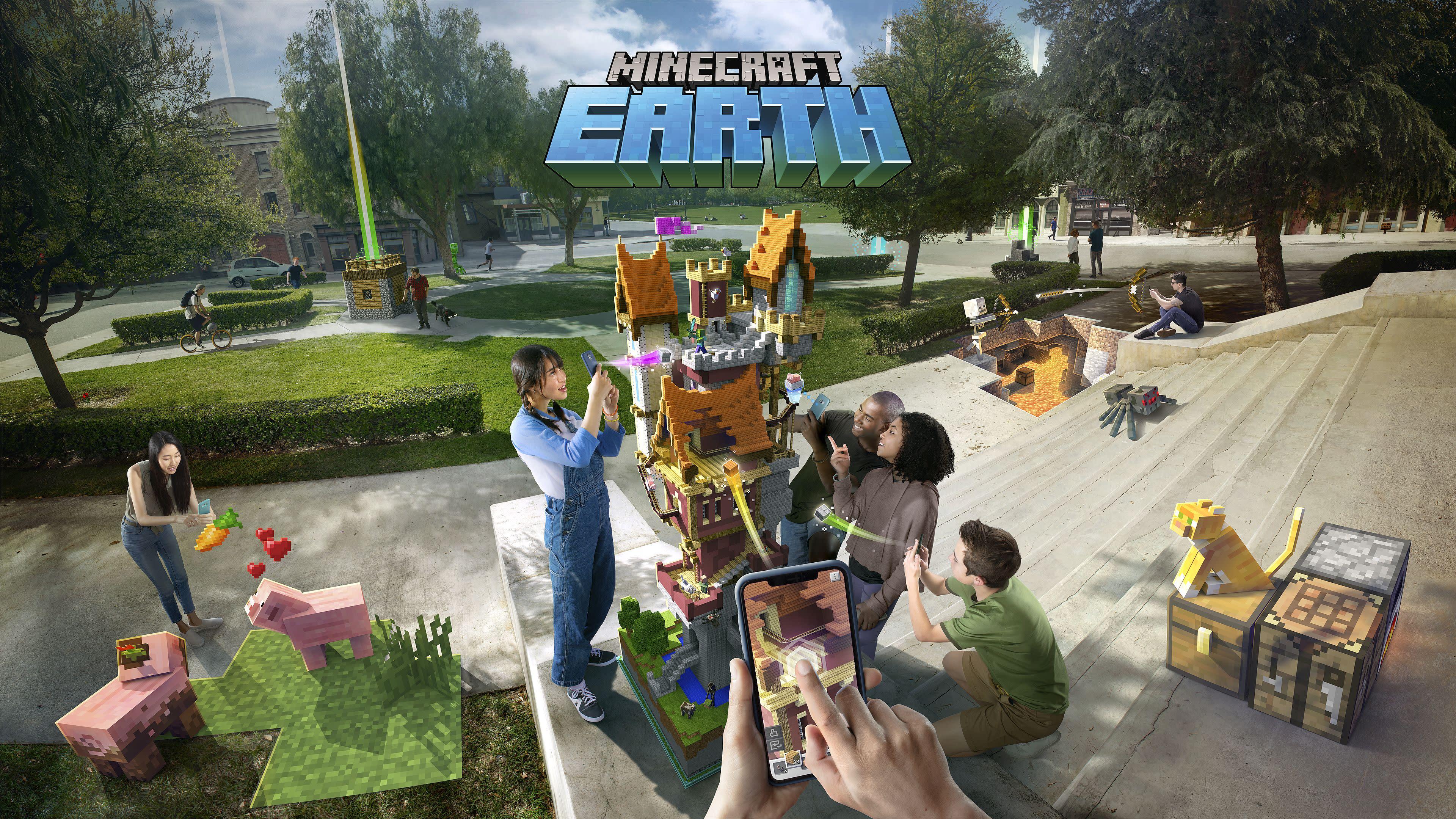 Коллективная игра в Minecraft