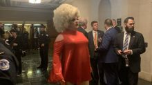 Drag queen makes unexpected appearance at Trump impeachment hearings