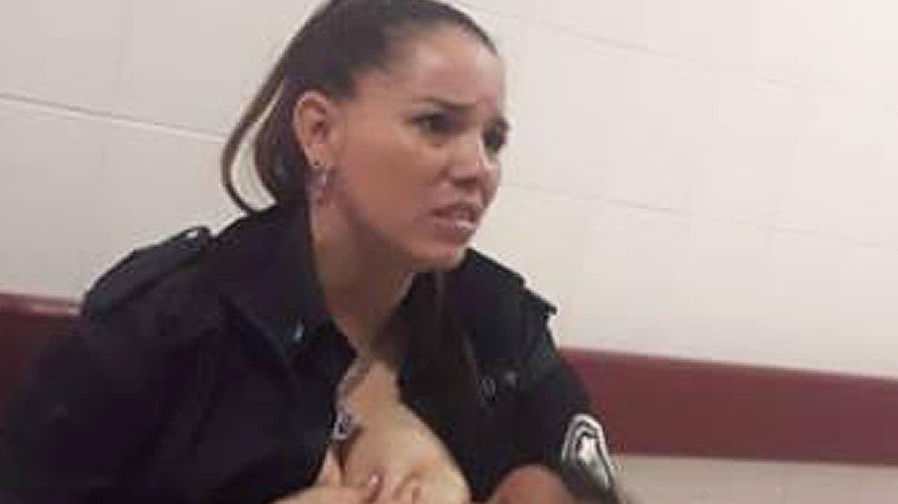 Police officer breastfeeds stranger's 'malnourished' baby