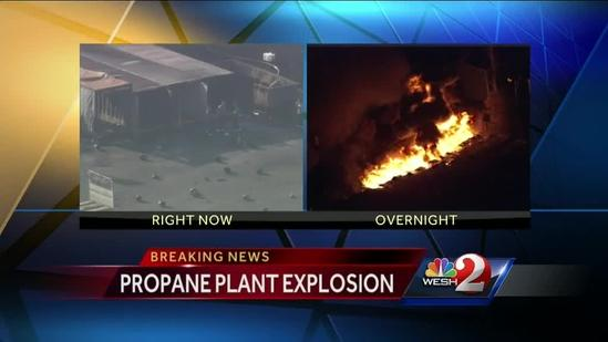 8 hurt in plant explosions at Blue Rhino in Tavares