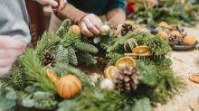 Aprenda a fazer uma guirlanda de Natal natural e sustentável