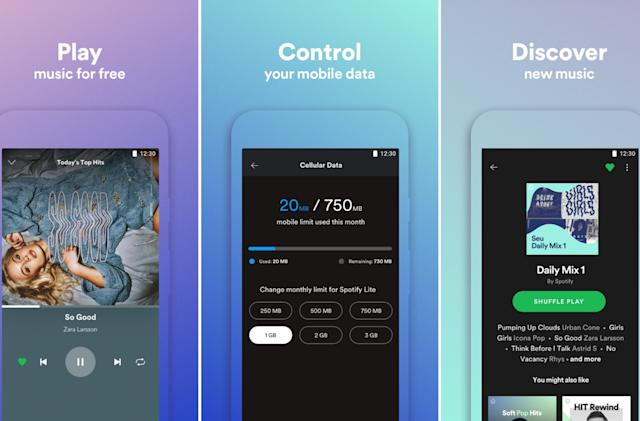 Spotify tests stripped-down lite version of its app
