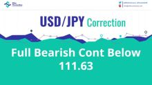 USD/JPY Full Bearish Continuation Below 111.63