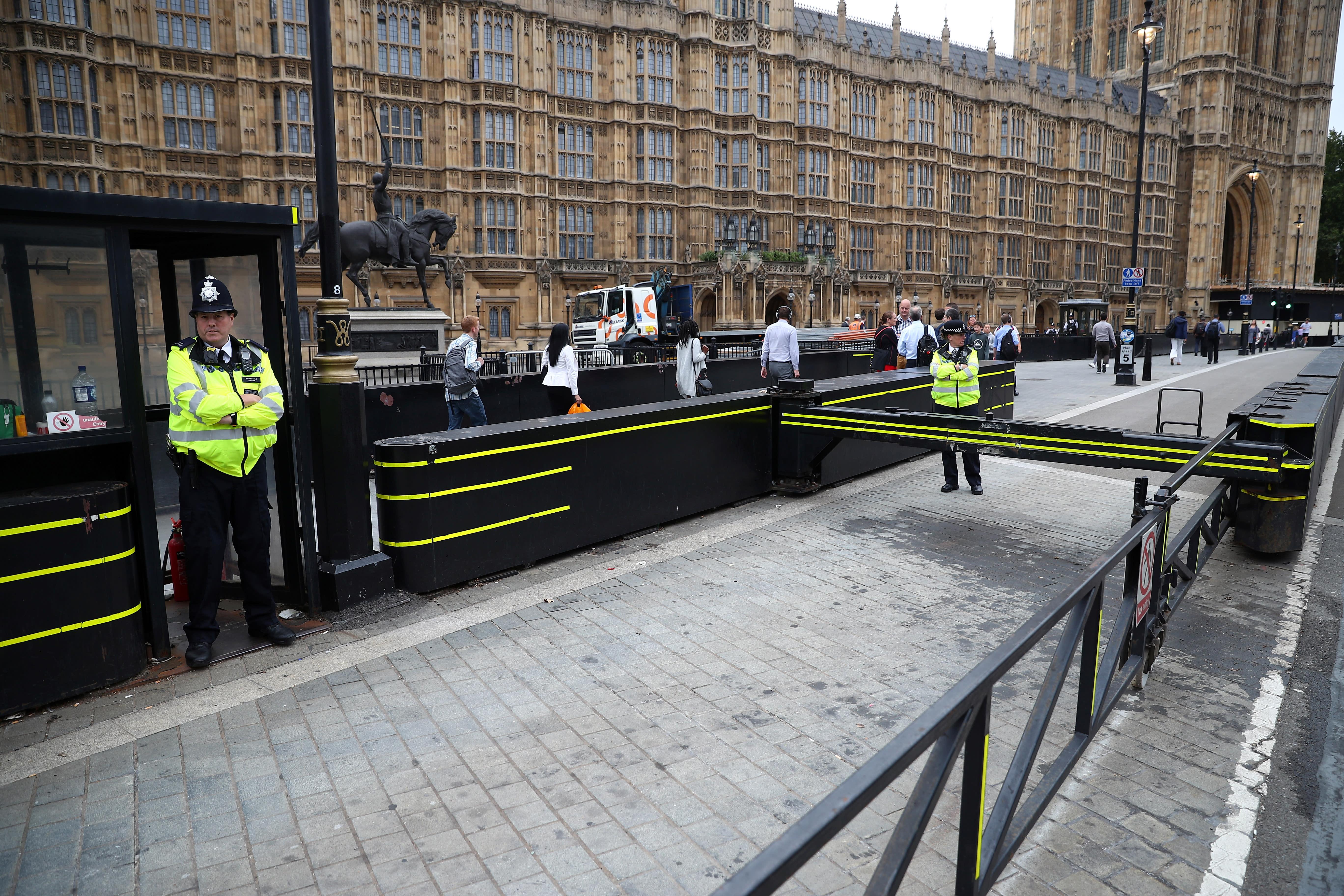 Car crash outside U.K. Parliament; terrorist suspect arrested