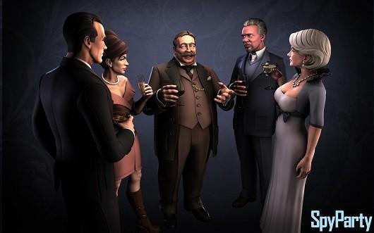 SpyParty's new art, animated for the first time
