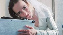 Woman marries a briefcase after five years of 'dating'