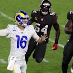 Jared Goff finally beats Tom Brady as defense secures Rams' win over Bucs