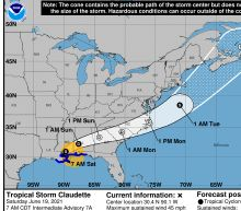 When and where Tropical Storm Claudette could cause flooding and tornadoes in NC