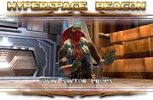 Hyperspace Beacon: Givin' SWTOR props