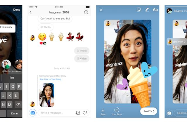 Friends can steal the Instagram Stories posts they're tagged in