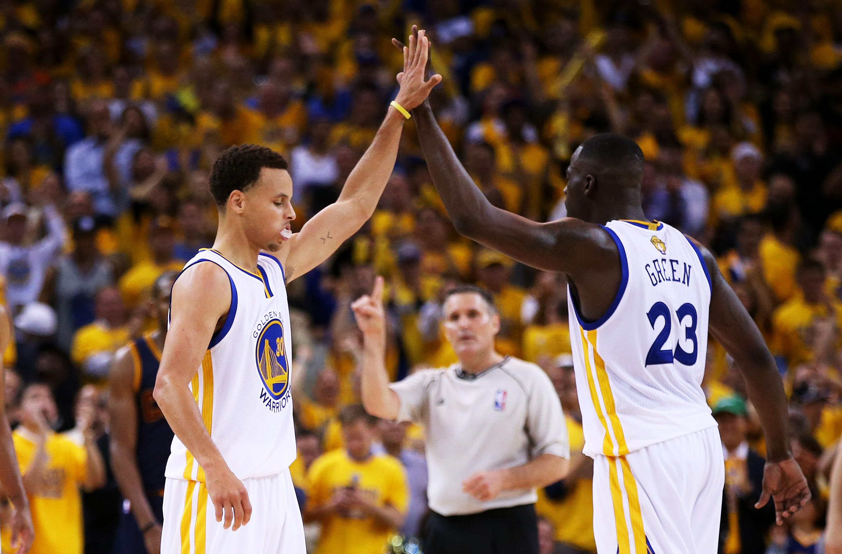 Warriors overcome NBA Finals jitters and LeBron James to win Game 1