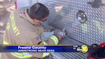 Firefighters save pets from fire on Armstrong near Nees