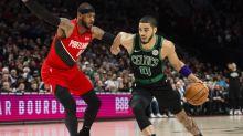 Celtics' Jayson Tatum shouts out Carmelo Anthony for hitting NBA milestone