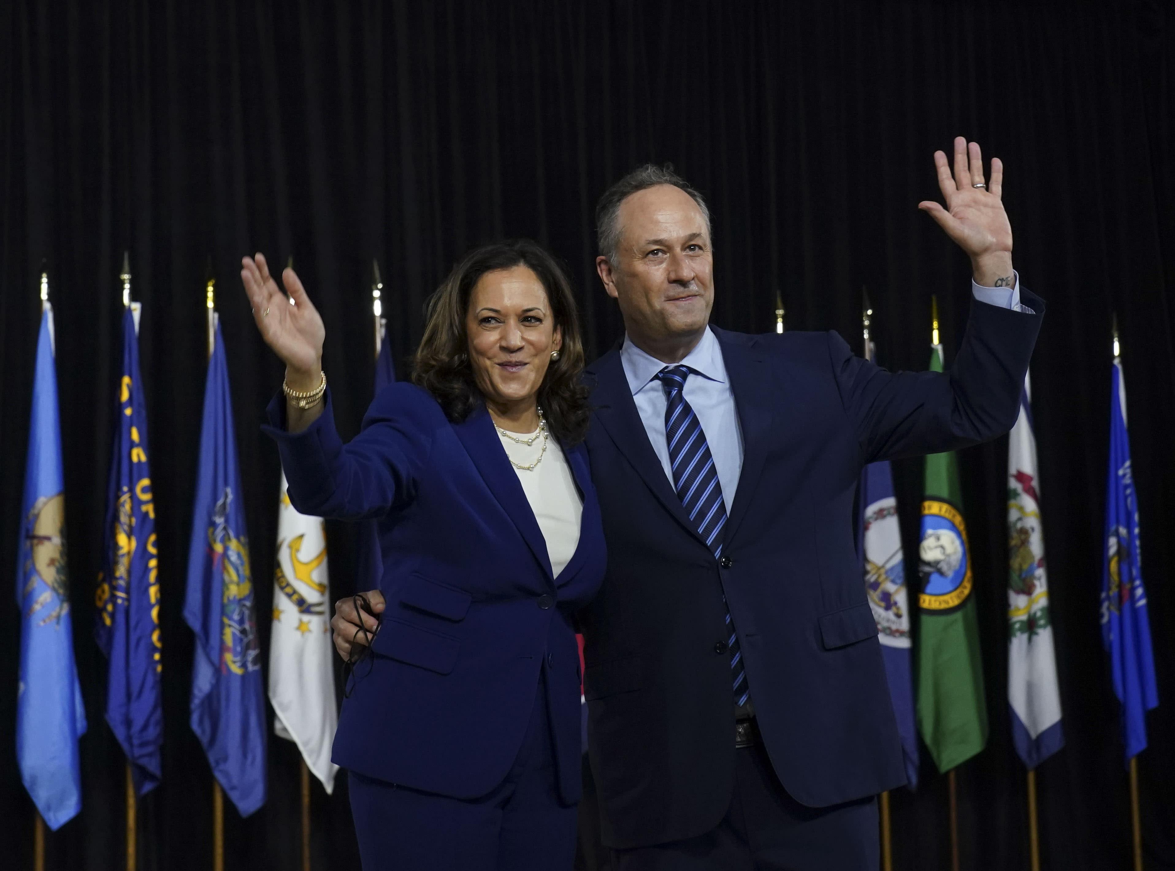 Doug Emhoff sweetly congratulates wife Kamala Harris on VP win: 'So proud of you'