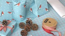 Join our Christmas 'wrap-along' and get an exclusive Country Living Robin Gift Wrap Set