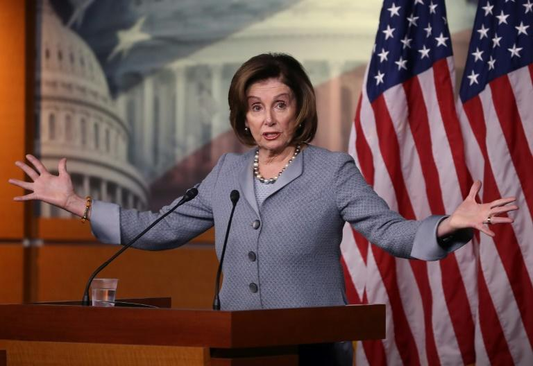 "US Speaker of the House Nancy Pelosi, the top Democrat in Congress, says her party's 2020 presidential nominee should be the candidate who wins ""a majority plus one"" of delegates to the Democratic convention"
