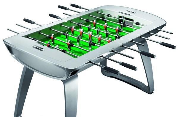 Audi's foosball table still costs less than its cars, but not by much