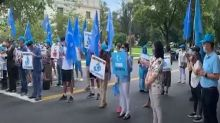 Uyghur diaspora in US protest against China's ethnic cleansing of minorities in Xinjiang