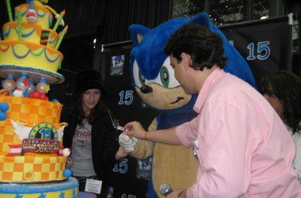 Joystiq at Sonic's 15th birthday party