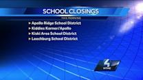 School Closings in Several Districts