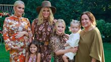 Ashlee Simpson Ross poses with 3 generations of her family at baby shower