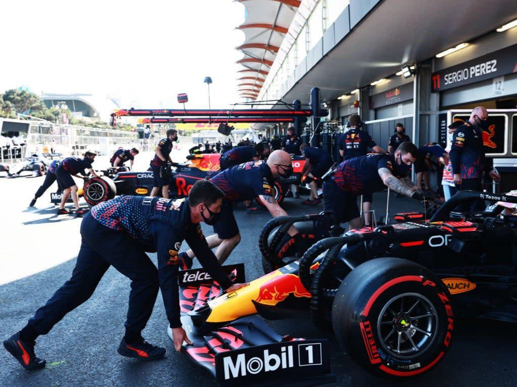 Azerbaijan Grand Prix LIVE: F1 latest updates as Charles Leclerc starts on pole ahead of Lewis Hamilton