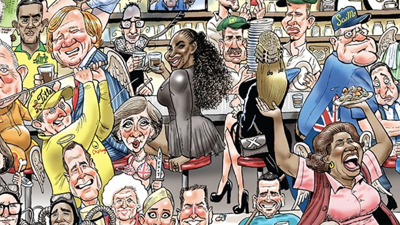 'Hope she likes it': Aussie cartoonist draws Serena Williams again