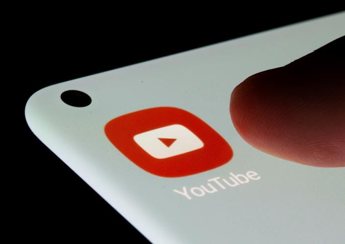 YouTube app is seen on a smartphone in this illustration taken, July 13, 2021. REUTERS/Dado Ruvic/Illustration