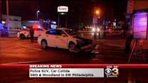 Police SUV, Another Car Collide In Southwest Philly